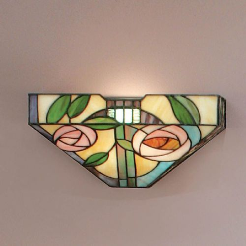 Willow Wall Light (Art Nouveau, Mackintosh, Nature, Wall Lamp) TG106W (Tiffany style)